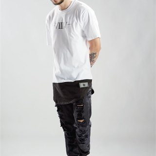 HWPD│ arc stitching Long T-Shirt white (refer to Kanye West / Yeezy / Justin Bieber)