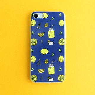 Iphone phone shell series <dark blue lemon>