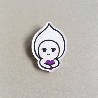 Happydoory Acrylic Badge // Be Kind Be Grateful // Little Purple Heart