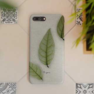 iphone case green natural leaf for iphone5s, 6s, 6s plus, 7, 7+, 8, 8+, iphone x