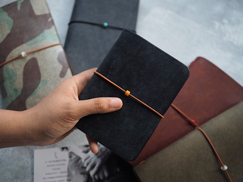 TN portable travel notebook passport color original Italian vegetable tanned leather handmade leather design customized