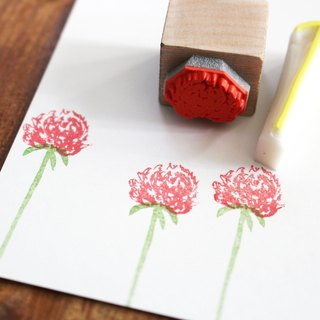 Bachelor's button stamp set