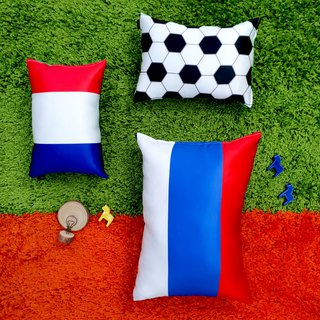 Accompany your passing flag light satin soft cotton pillow (small)