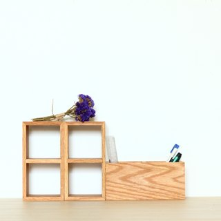 Zakka 2 grid storage rack / display stand - American oak