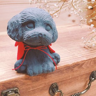 Dark Grey / Friendship forever / little Poodle / Diffuser Stone or Paperweight