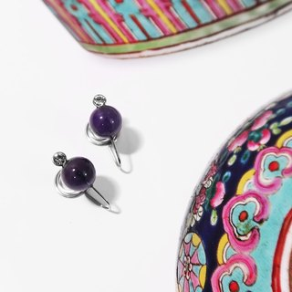Kamcheng Sweet Series | Amethyst Stainless Steel Earrings