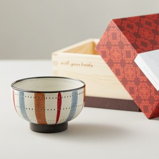 Shizuho Pazo Saki - Hand-painted line rice bowl