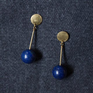 Copper Lapis Earrings - Clip-On Earrings