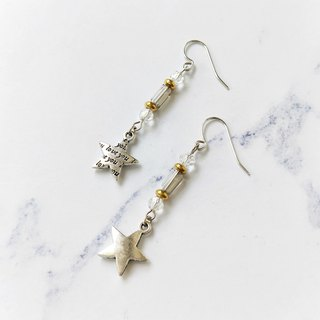 - Un Jess Cadeau - 皎 日 日 star stars pendant handmade earrings