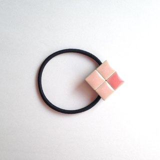 Tile hair rubber (pink × pink)