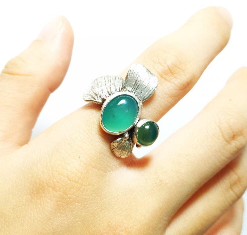 魚鱗。925純銀戒指