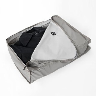 Clothing and bags (large). gray