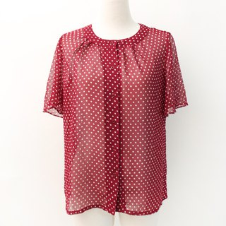 Vintage Japanese Minnie Red Dot Short Sleeve Vintage Shirt Vintage Blouse