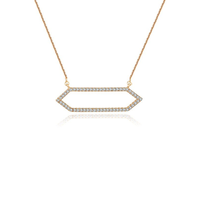 Hexagonal Shape Diamond Necklace