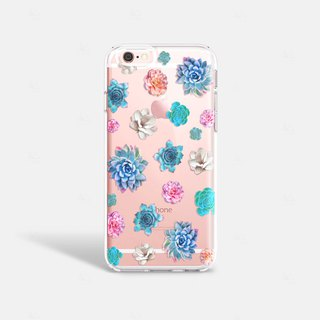Succulents iPhone 7 Case Clear iPhone 8 Case iPhone 7 Plus Clear Case Gift