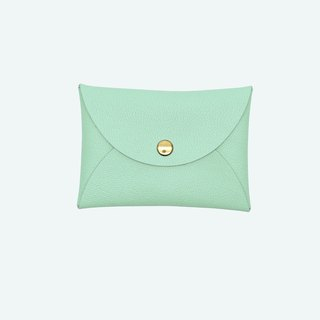 Multi-color genuine leather macarons green card holder/wallet/card holder/card case