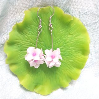 Lavender flower ball earrings / ear hook / ear clip