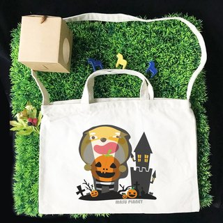 [Halloween Special] Illustrator Micky Halloween Wenchuang style horizontal canvas bag