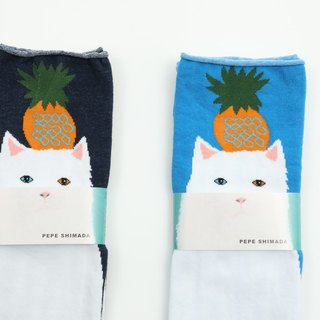 1 pineapple cat stocking