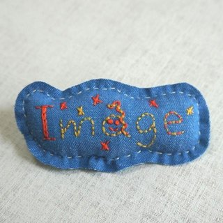 "Hand embroidery broach ""Image"""