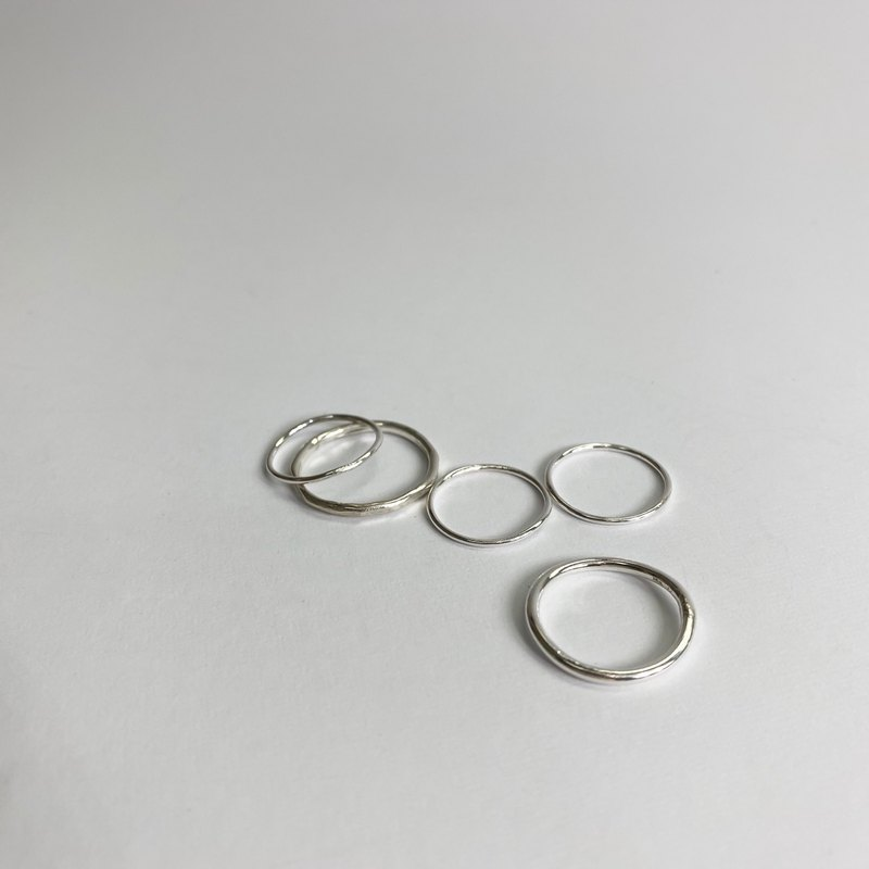 Wire Silver Rings