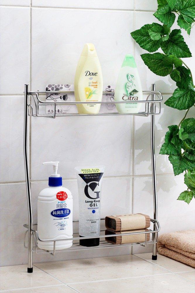 新世代無痕貼片浴室瓶罐架 置物架 沐浴乳架浴室收納架浴缸邊架