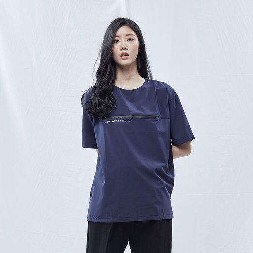 DYCTEAM - 2 Functional Zipper Fifth Tee (DEEP BLUE)