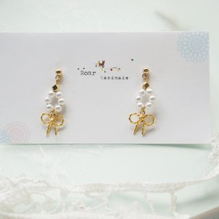 Simple Design Earrings - Bow (Pin / Clip)
