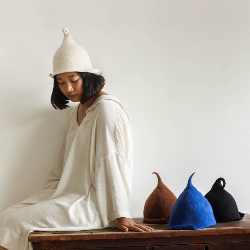 Ke [people] custom handmade wool felt hat wool felt diy handmade gift wet autumn and winter warm hat cap