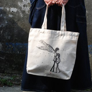 Cotton canvas bag - everyone has their own angel