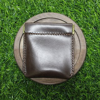 [Mini5] Lightweight carry-on coin purse / headphone storage bag (deep coffee / coffee)