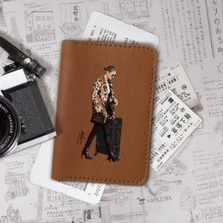 modern woman Genuine Leather passport holder