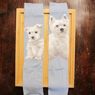 JHJ Design Canadian brand of high saturation knitting socks dog Series High Westland Terrier (Female) puppy dog ​​cute