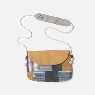 [re-reproduction] splicing side backpack - coffee