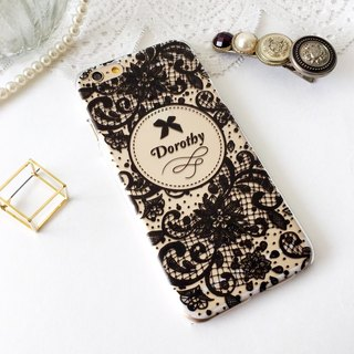 Customer Order Lace Black 02 Print Soft / Hard Case for iPhone X,  iPhone 8,  iPhone 8 Plus, iPhone 7 case, iPhone 7 Plus case, iPhone 6/6S, iPhone 6/6S Plus, Samsung Galaxy Note 7 case, Note 5 case, S7 Edge case, S7 case