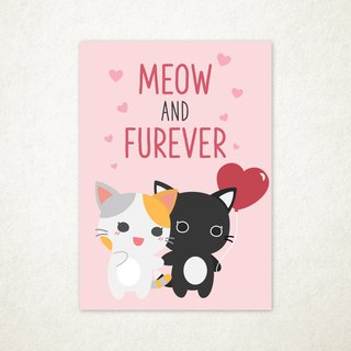 Meow And Furever Greeting Card