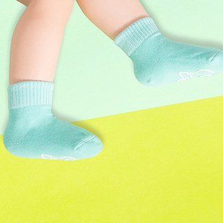 Macarons slip 1/2 child socks (Mint Green)