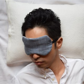 Pure  Hicory Navy/eye mask/with a bag/stripe/travel/gauze/sleep mask