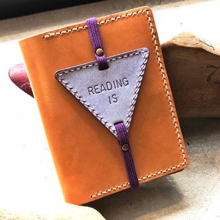 Finished Products - Triangle Bookmarks Original Handmade Leather Bookmarks White Waxed Vegetable Tanned Leather Italian Leather