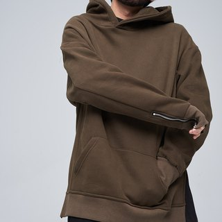 Shape zipper switch hoody shirt 9108