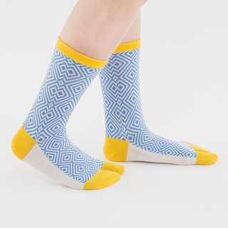 neliö pattern toe socks