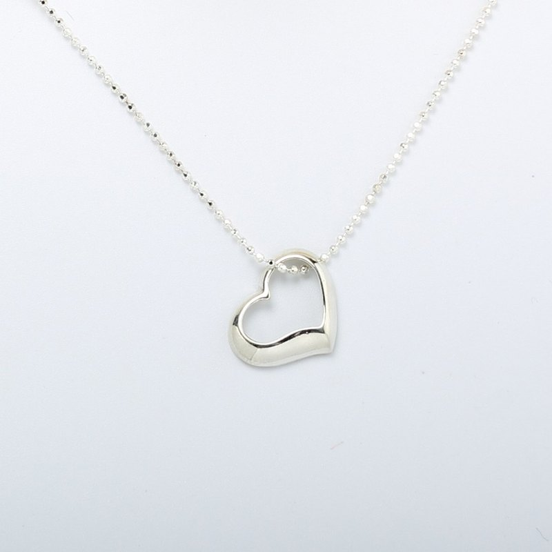 Big Heart s925 sterling silver necklace Valentines Day gift