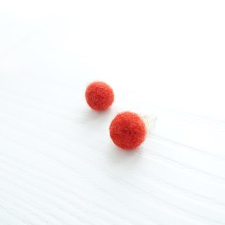 &lt; <BEANS毛豆> &gt; Pet sheep wool blankets custom sterling silver earrings ear clip
