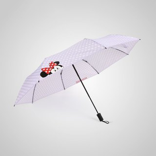 [German kobold] Disney official authorization - rain umbrella - wave point Minnie - purple