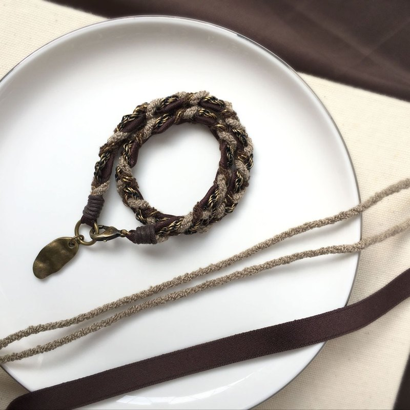 SAMEDi - French hand woven bracelet - coco brown