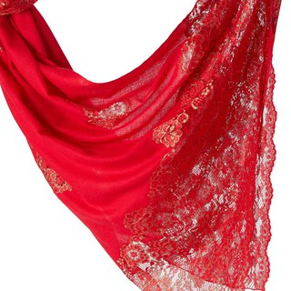 [ANGEL WOOLEN] Indian handmade French lace shawl scarf (Oriental fragrance)