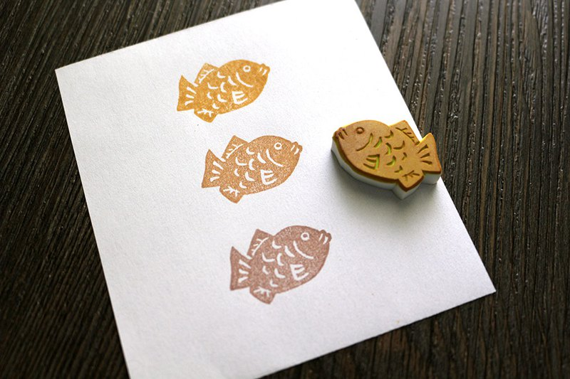 Apu handmade chapter super cute mini squid burning seal hand stamp