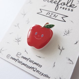 Apple Handmade Pin - Illustrated Pin