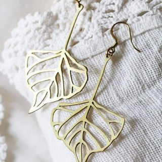 Leaf Earring / Linen Jewelry / Style Earrings / Everyday Jewelry / Jewelry.