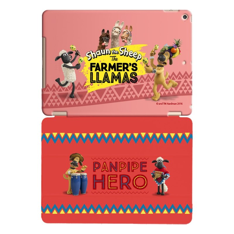 "Smiled sheep genuine authority (Shaun The Sheep) -iPad crystal shell: [Samba] enthusiasm ""iPad / iPad Air"" Crystal Case (Red) + Smart Cover (Red)"